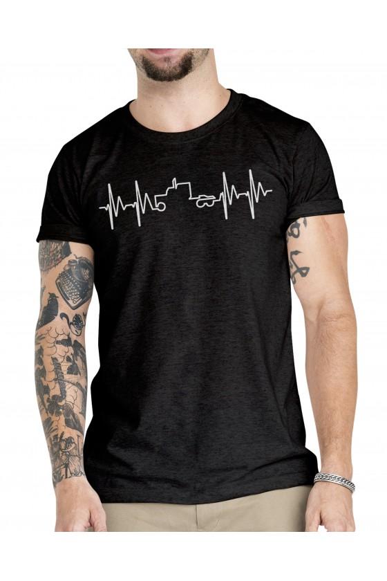 Camiseta Camionero ilustración   Ritmo cardiaco corazón Camión