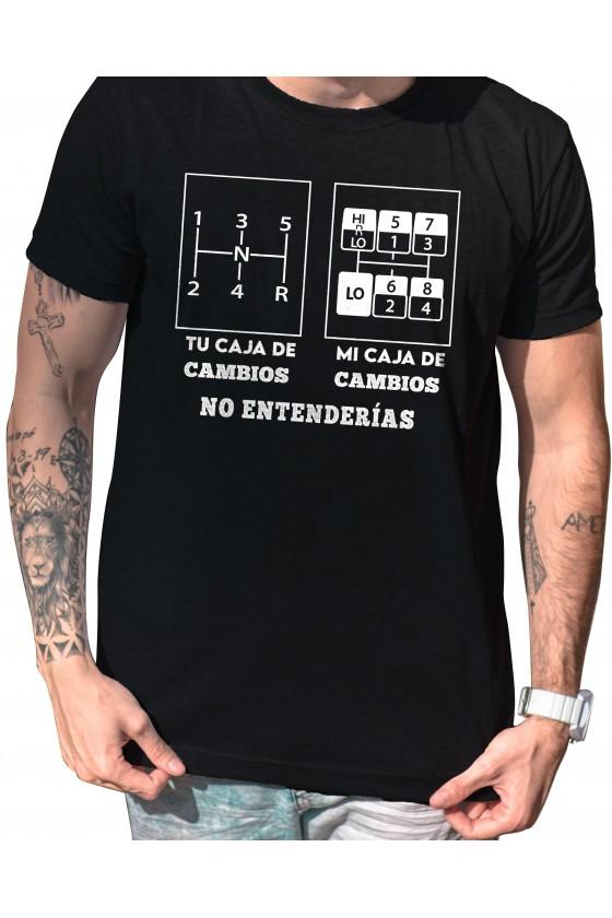 Camiseta Camionero ilustración   Mi caja de cambios