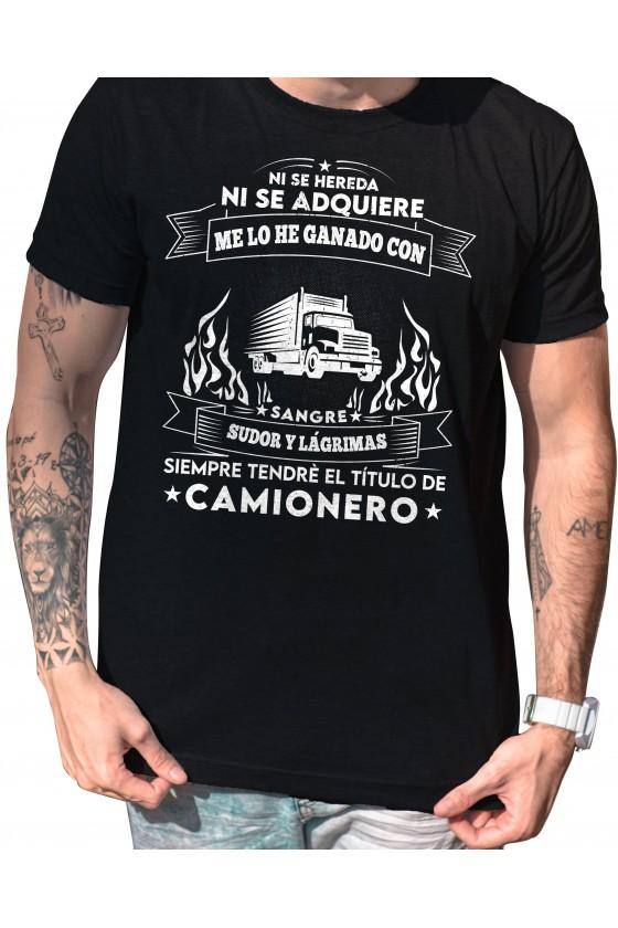 Camiseta Camionero ilustración | Ni se Hereda ni se Adquiere