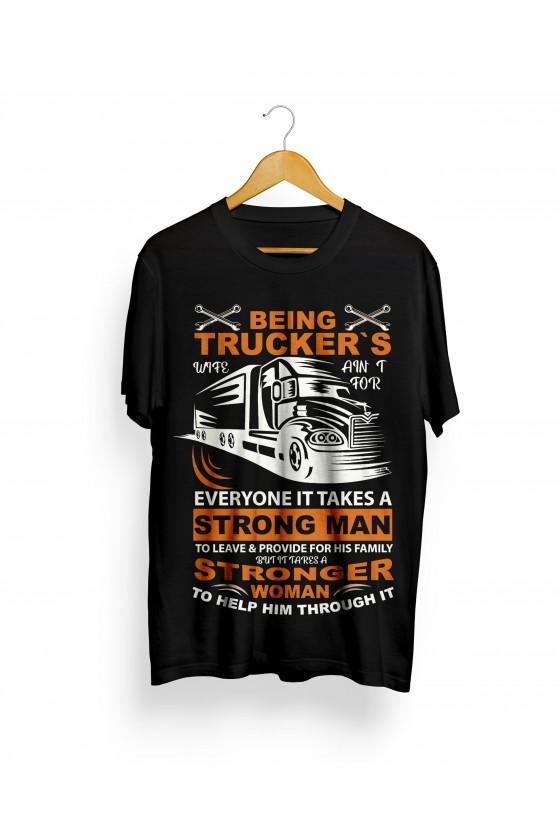Camiseta Camionero ilustración | Everytone it Takes a Strong Man