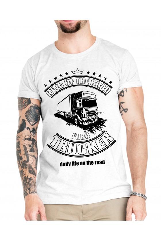 Camiseta Camionero ilustración   King of the Road Euro Trucker